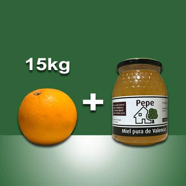 Naranjas Ecológicas Valencia + tarro de miel
