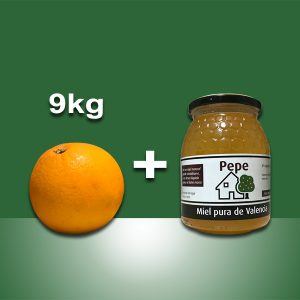 Naranjas Ecológicas Valencia y tarro de miel, 10kg