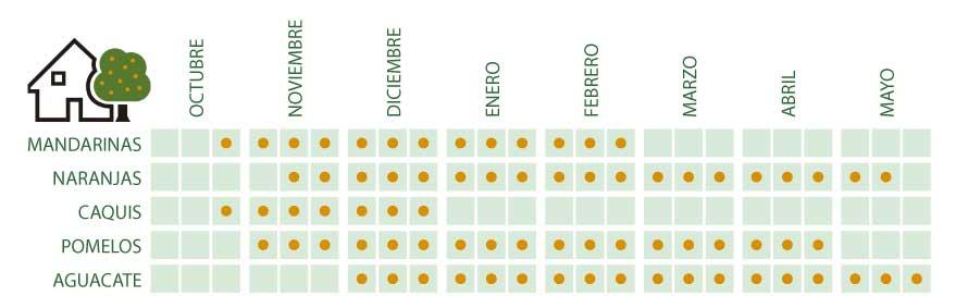 naranjas-mandarinas-ecologicas-aguacates-caquis pomelos calendario